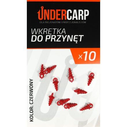 Undercarp wkrętka do przynęt – czerwona