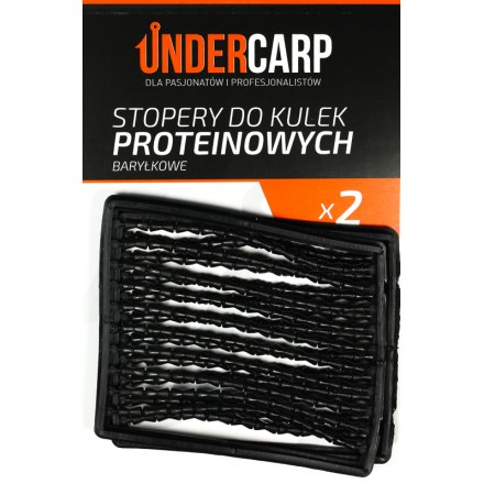 Undercarp stopery do kulek proteinowych baryłkowe – czarne