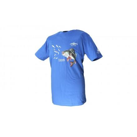 Mikado Niebieski T-Shirt z Nadrukiem M