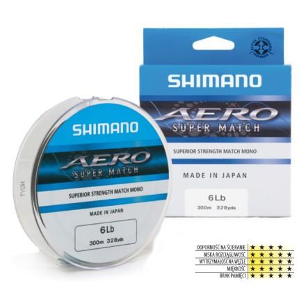 Shimano Żyłka Aero Match 0,16mm, 4lbs, 300m