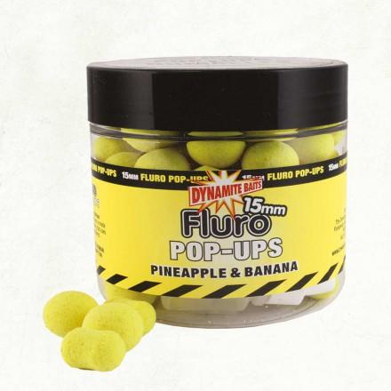 Dynamite Baits Fluro POP UPS Dumbells Ananas Banan 15mm