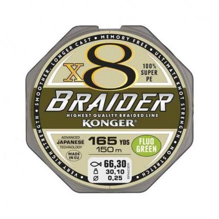 Konger Plecionka braider x8 black 0 08 150m