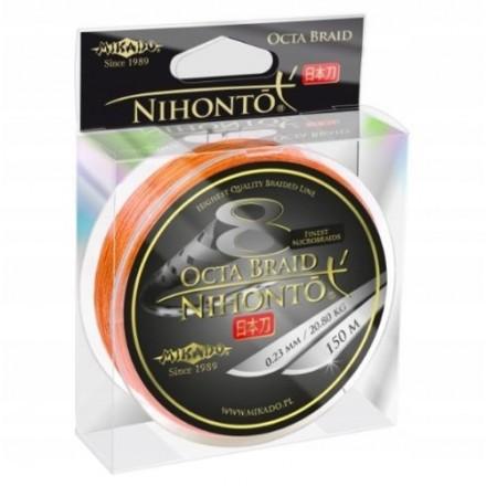Mikado Plecionka NIHONTO OCTA BRAID 032 orange150M
