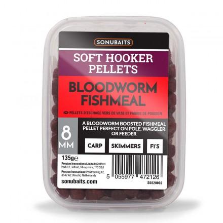 Sonubaits Soft Hooker Pellets Bloodworm 8mm 135g