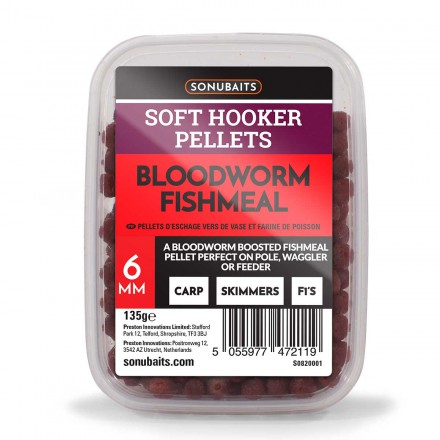 Sonubaits Soft Hooker Pellets Bloodworm 8mm 135g