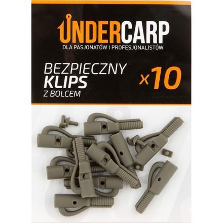 Undercarp Bezpieczny Klips Zielony z Bolcem