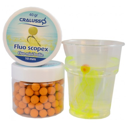 Cralusso Fluo Pineapple mini boilie 10mm 40g