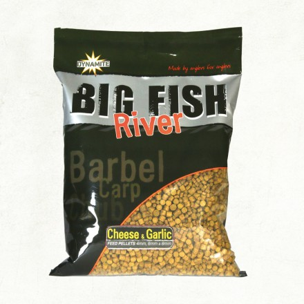 Dynamite Baits Big Fish River Pellets Ser i Czosnek 1,8kg