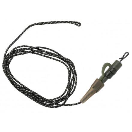 Undercarp Leadcore z krętlikiem 100cm 45lbs 1szt brąz