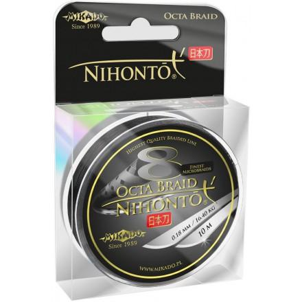 Plecionka Mikado NIHONTO OCTA BRAID 014 czarna 10M