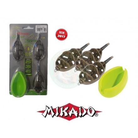 Mikado koszyczek method feeder Fortis L 45gx3szt + foremka