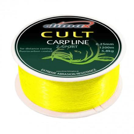 Climax Żyłka Cult Carp Z-Sport 0,28mm 1200m Fluo-żółty