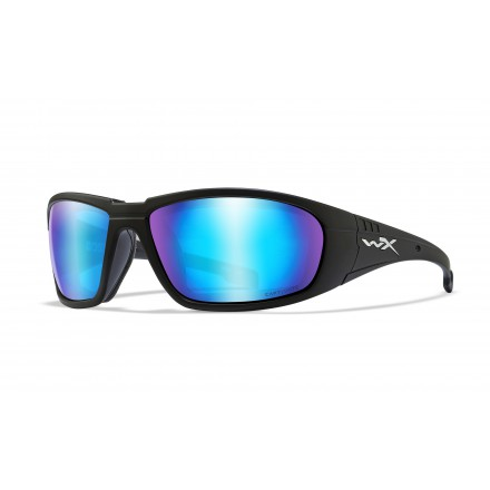 WX Boss Okulary Matte Black CAPTIVATE POLARIZEDBLUE MIRROR