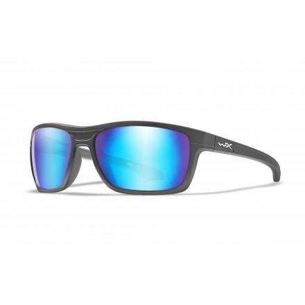 WX Kingpin Okulary Pol Blue mirror / Matte Graphite Frame