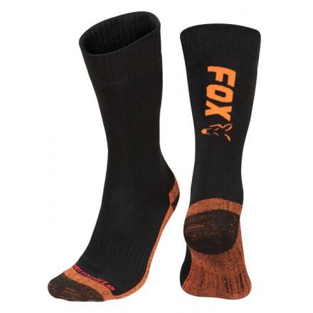 Fox Black / Orange Thermolite Długie Skarpetki Eu 44-47