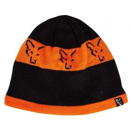 Fox Czapka Black & Orange Beanie