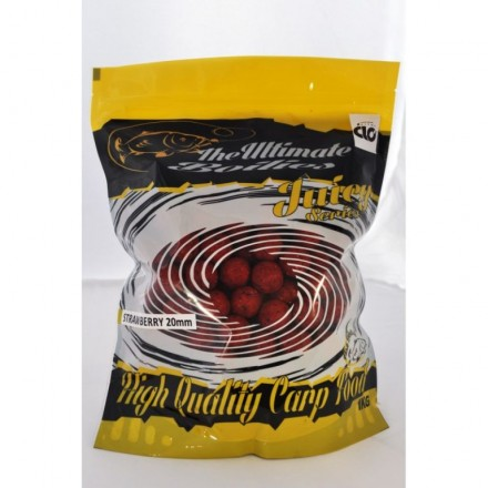 ULTIMATE Juicy Range Boilies STRAWBERRY ROBIN RED 16mm