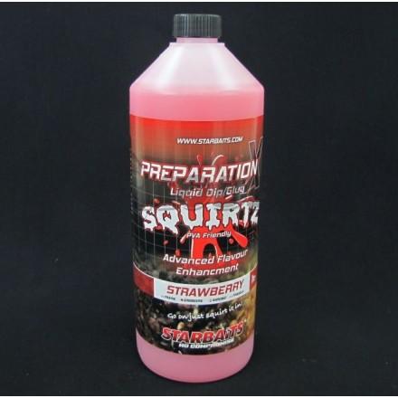 Starbaits Płyn Prep X Squirtz Strawberry 1L
