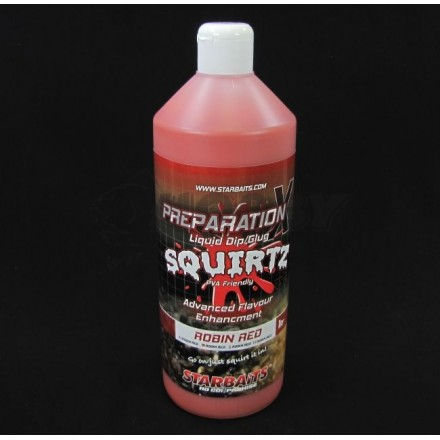 Starbaits Płyn Prep X Squirtz Robin Red 1L