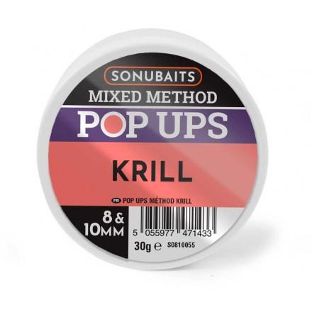 Sonubaits Mixed Method Pop-Ups 8 i 10 mm - Krill