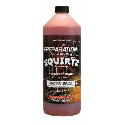STARBAITS SQUIRTZ liquid Dip/Glug INDIAN SPICE 1L
