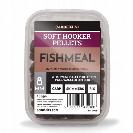 Sonubaits Soft Hooker Pellets Fishmeal 8mm 135g