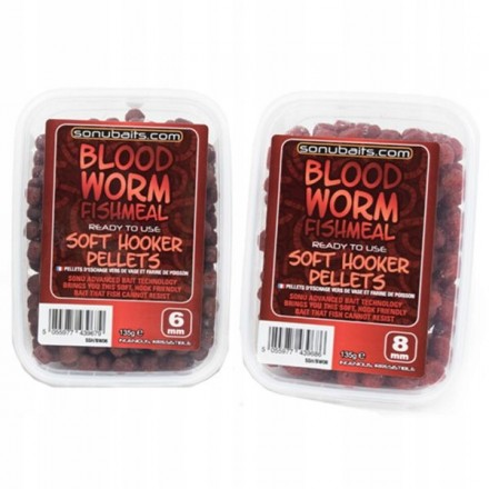 Sonubaits Soft Hooker Pellets Bloodworm 6mm 135g