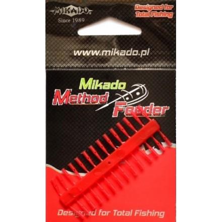 Mikado Stopery Method Feeder - Push Stop RED