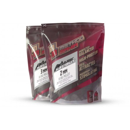 MethodMania Pellet Dark Halibut 3mm 900g