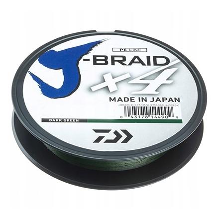 DAIWA Plecionka J-BRAID X4 0,10mm ZIELONA 135m