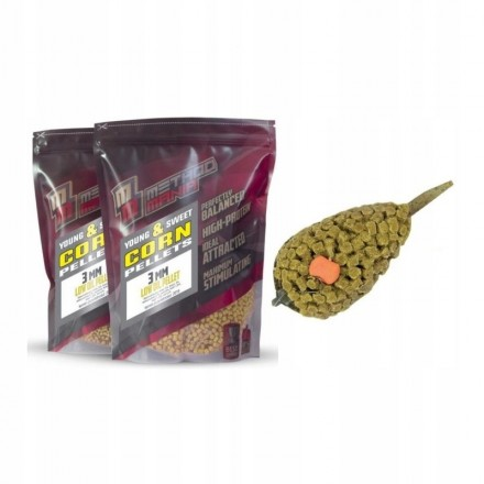 MethodMania Pellet Young & Sweet Corn 3mm 900g