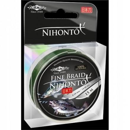 Mikado Plecionka NIHONTO FINE BRAID 010 GREEN 15M