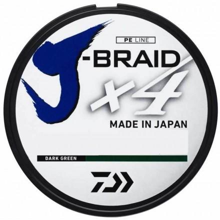 DAIWA Plecionka J-BRAID X4 0,19mm ZIELONA 270m