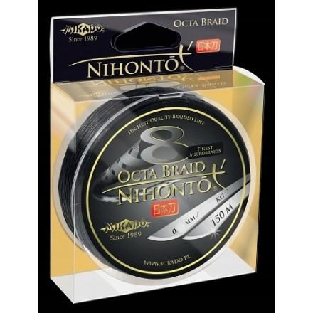 Mikado Plecionka NIHONTO OCTA BRAID 035 BLACK 150M