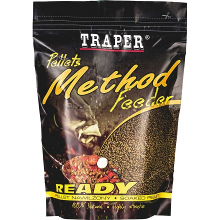 TRAPER Pellet Method Feeder ready - 500g Truskawka