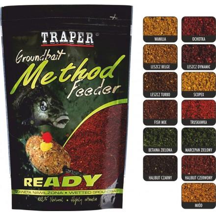 Traper Zanęta METHOD FEEDER READY Halibut red