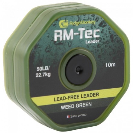 RidgeMonkey Tec Lead Free Leader 50LB Weed Green