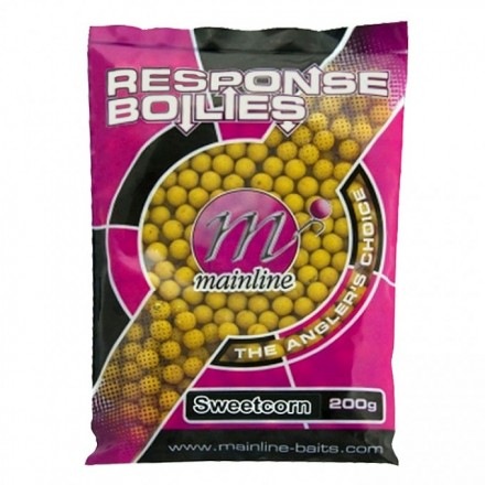 mainline Rsponse Range Boilies Sweetcorn 10mm, 200g