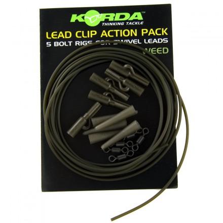 KORDA Lead Clip Action Pack - Weed -zestaw klipsów