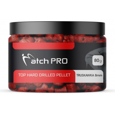 MatchPRO Top Hard Drilled Pellet Truskawka 12mm 80g