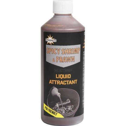 Dynamite Baits Spicy Shrimp Prawn Liquid 500ml