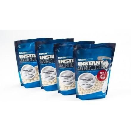Nash Instant Action Coconut Crème Boilies 18MM 1kg
