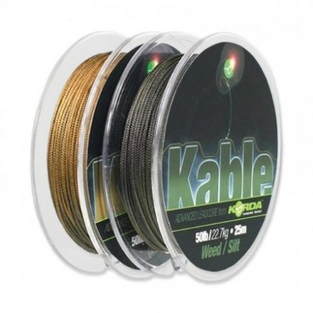KORDA Kable Leadcore Weed/Silt 50lb 22kg/7m