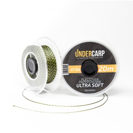 Undercarp plecionka przyponowa 20 m/25 lbs ULTRA SOFT -zielona