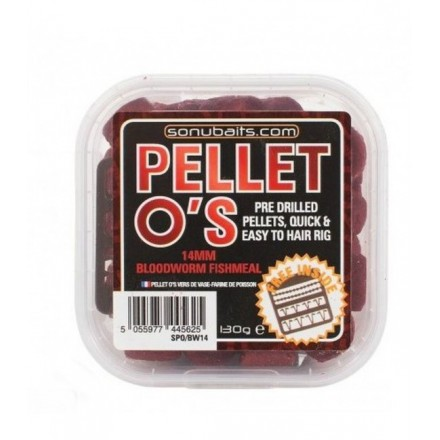 Sonubaits 14mm - Bloodworm Fishmeal Pellet O's