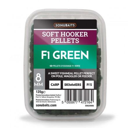Sonubaits Soft Hooker Pellets - F1 Green // 6mm