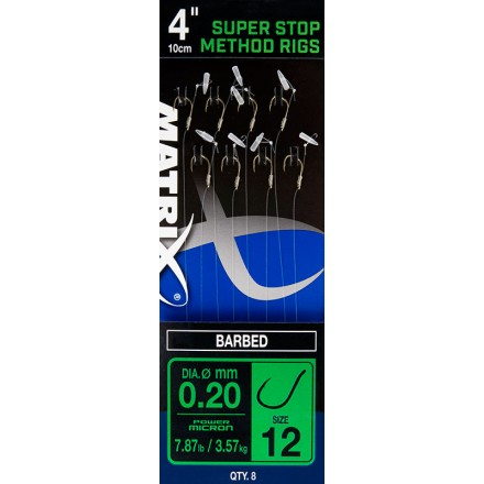 Matrix 4 Super Stop Method Rigs ROZ 14 Barbed