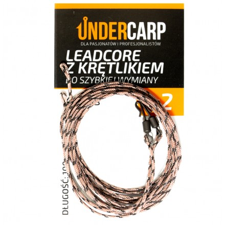 Undercarp Leadcore z krętlikiem 100cm 45lbs