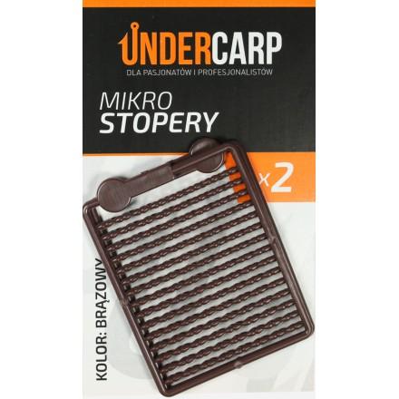 Undercarp mikro stopery – brązowe