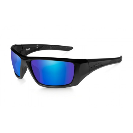WX Okulary NASH Polarized Blue Mirror Matte Black